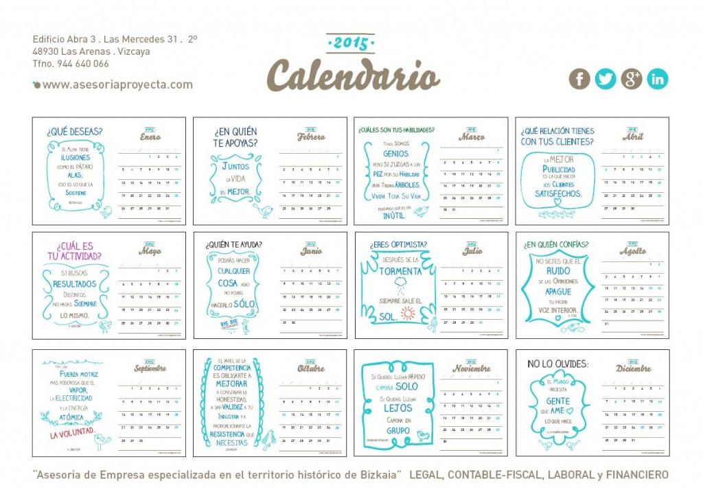 Calendario Laboral 2015 Bizkaia