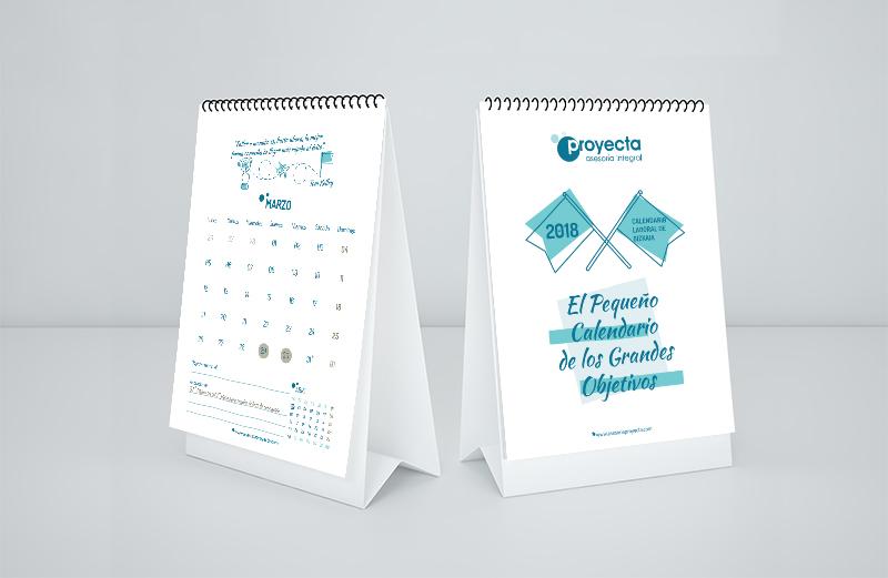Calendario Proyecta Asesoría Integral 2018