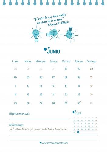 CALENDARIO 2018 JUNIO