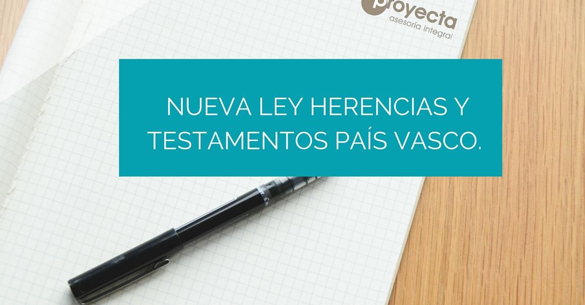nueva ley herencias pais vasco